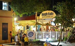 high tide restaurant St. John USVI