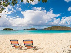 Honeymoon beach chair st. john USVI